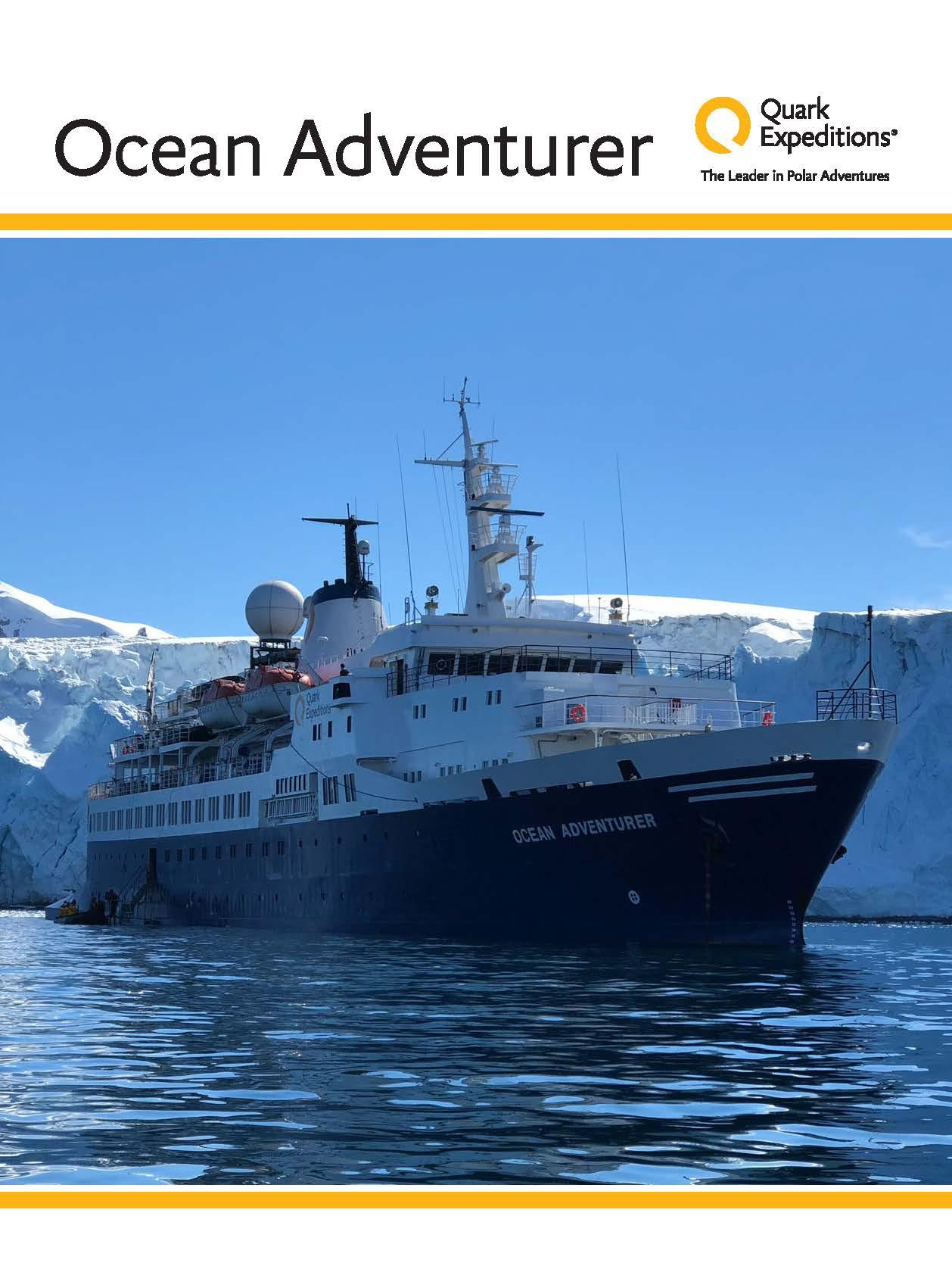Ocean Adventurer Ship Book 1 Arctic 2018