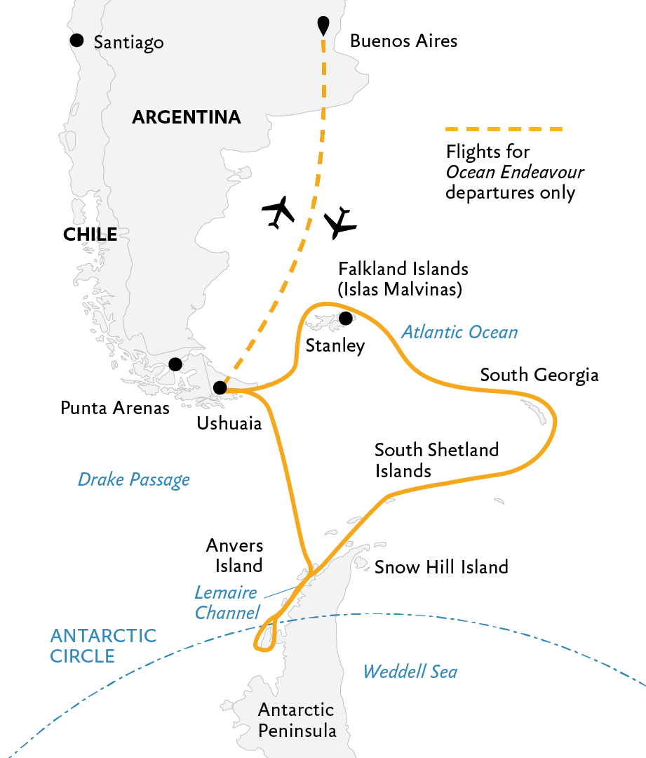 Epic Antarctica: Crossing the Circle via Falklands and South ...