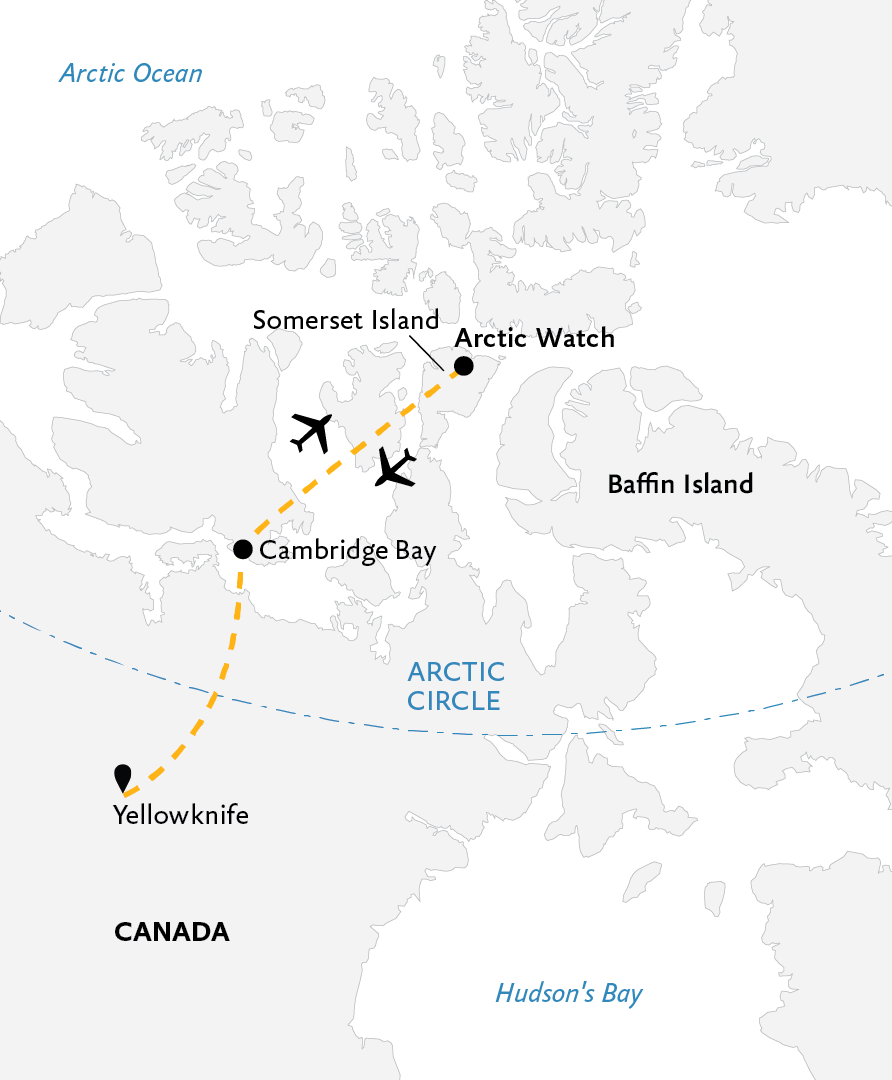 Map Of Canada Yellowknife.Arctic Watch Wilderness Lodge Quark Expeditions