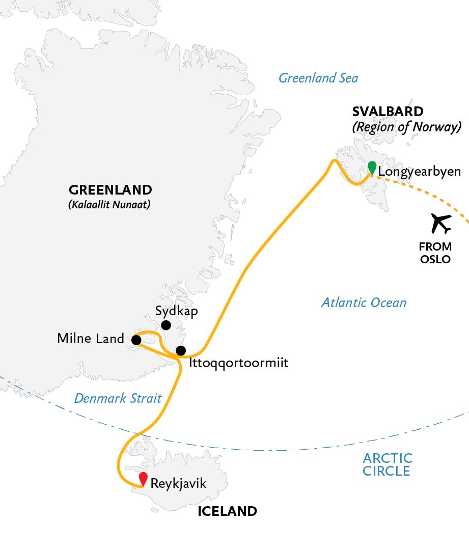 Three Arctic Islands Iceland Greenland Spitsbergen