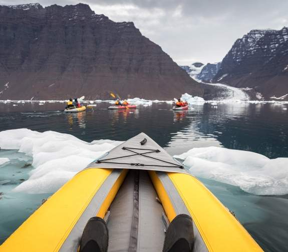 Passenger POV of paddling excursion experience